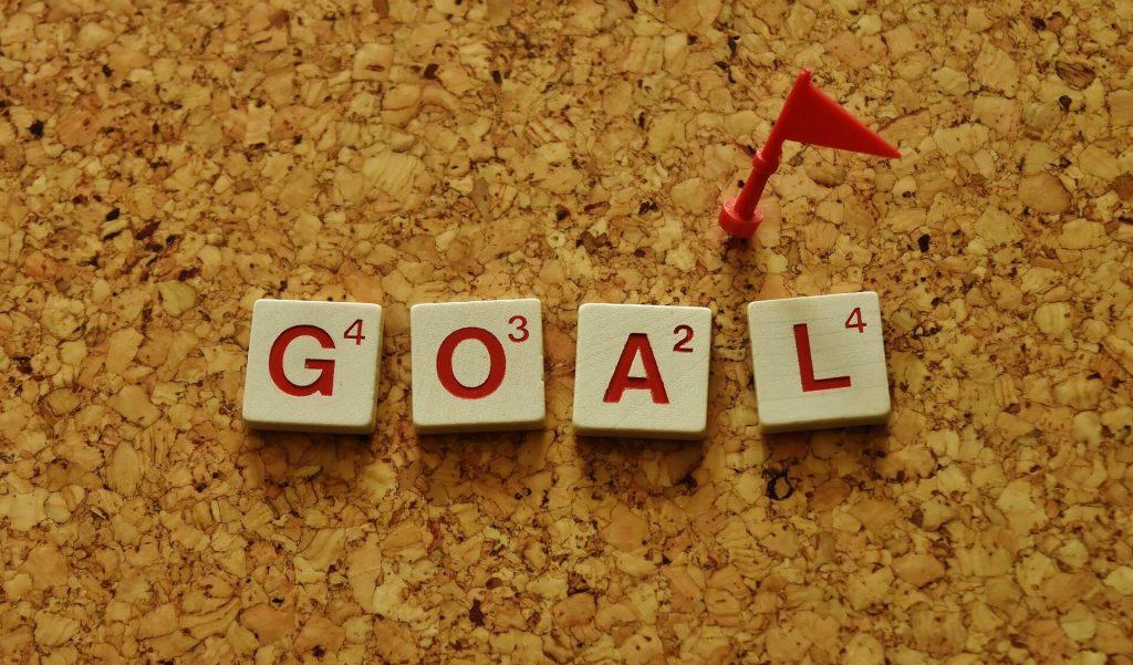 目標の例文